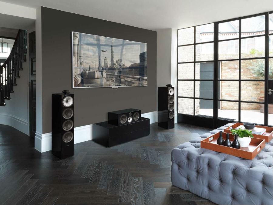 bowers & wilkins 700 series home studio set up in black