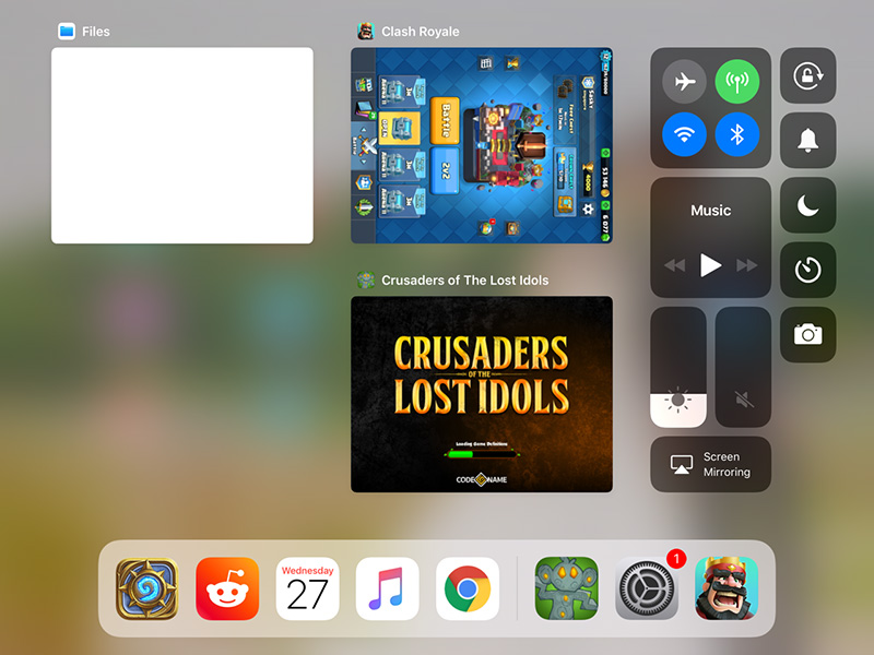 iOS 11 Multi-tasking
