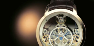 Arnold & Son Time Pyramid with black background