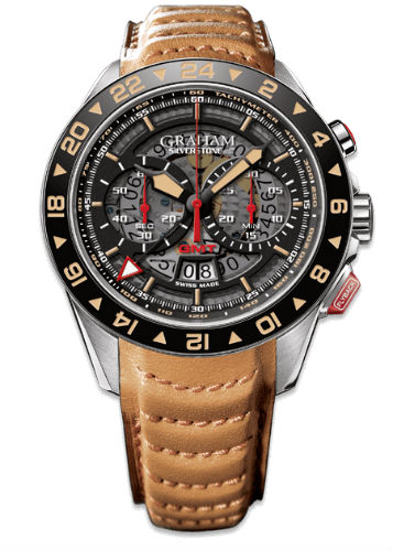Graham Silverstone RS GMT with leather strap