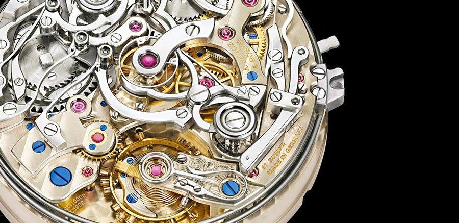Close-up of watch mechanisms
