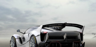 Ferrari FXX-K Evo back angled view