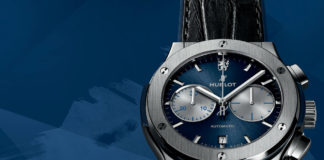 Hublot Big Bang Chelsea FC on blue background