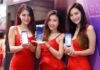 Models showing off the LG v30+