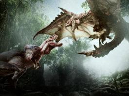 Monster Hunter: World screenshot of Ratholos fighting another monster