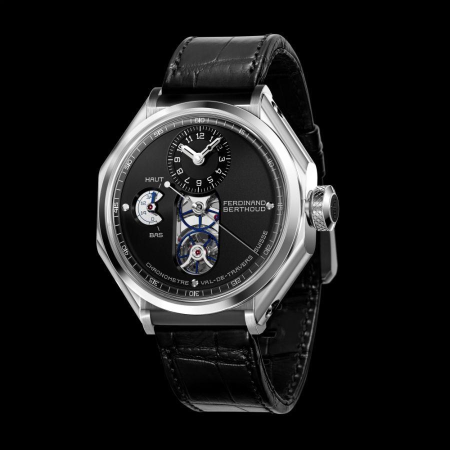 Front view of Chronometre Ferdinand Berthoud FB 1.4 in black brass