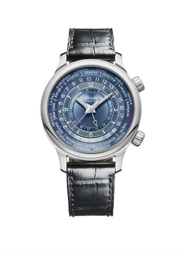 L.U.C Time Traveler One Singapore Edition in sterling silver