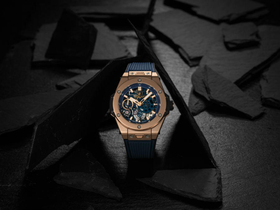 Hublot Big Bang Meca-10 Blue Ceramic in King Gold