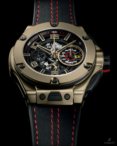 Hublot Big Bang Ferrari Magic Gold closeup