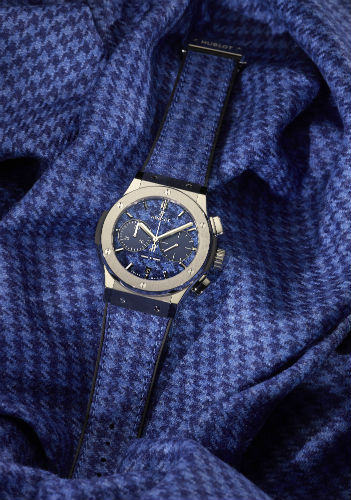 Hublot Classic Fusion Italia Independent in blue houndstooth