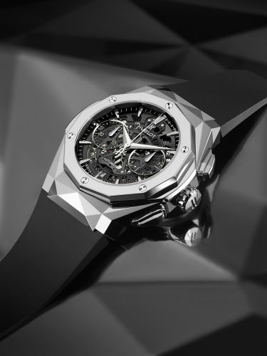 Hublot Classic Fusion Aerofusion Chronograph Orlinski on black background