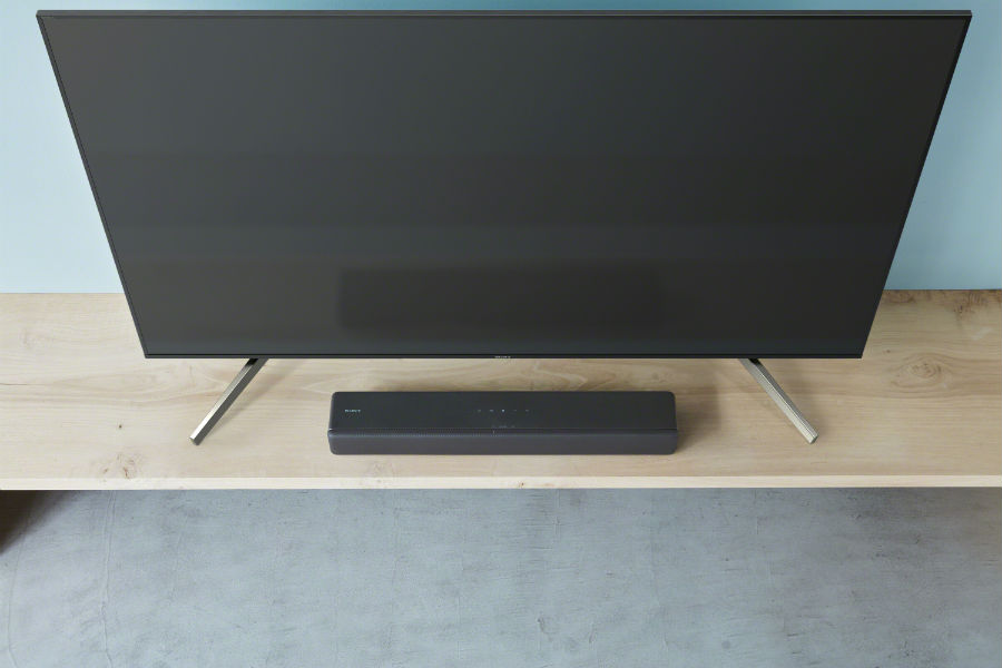 Sony HT-S200F on console in black
