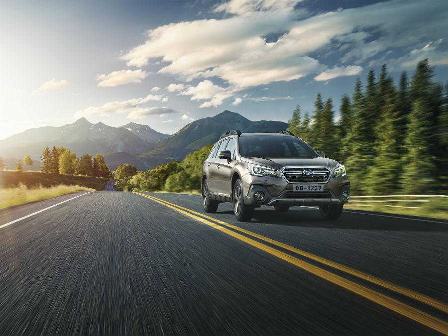 Subaru Outback on road