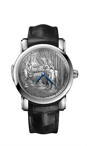 Ulysse Nardin Classic Voyeur in platinum with diamonds