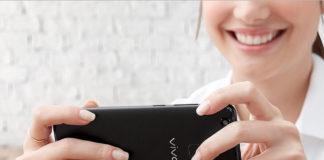 Woman taking photo using the Vivo V7+