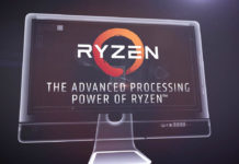 Ryzen logo on computer screen