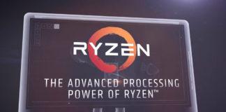 Ryzen logo on computer screen