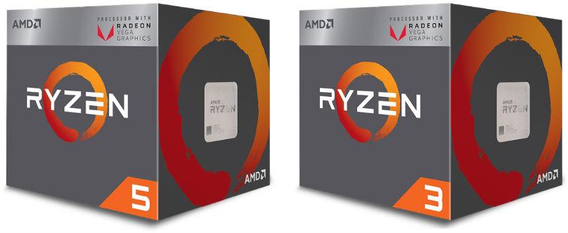 AMD Ryzen APUs in boxes
