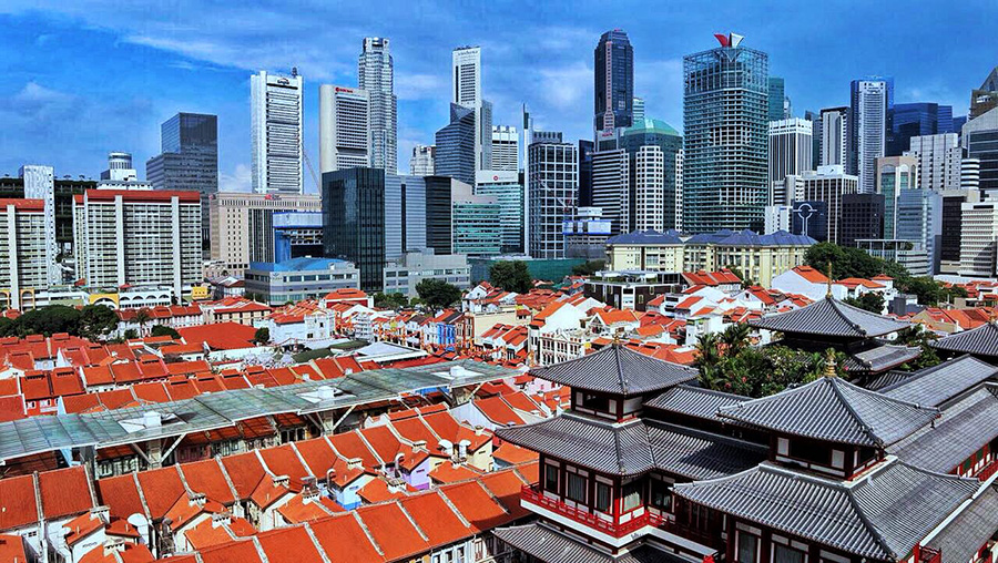 Buddha Tooth and Relic Temple cityscape