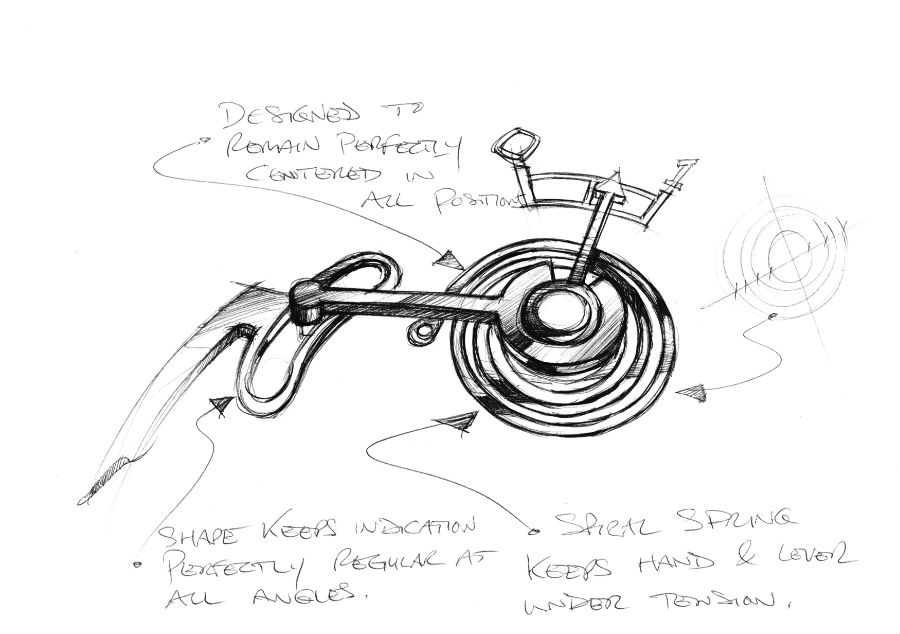Sketch of Chronometre FB-1R.6-1 design