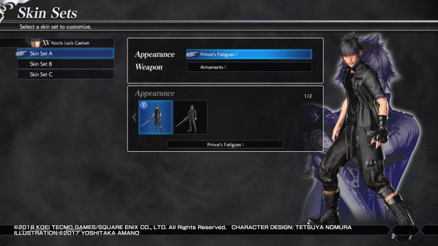 Noctis in Dissidia Final Fantasy NT