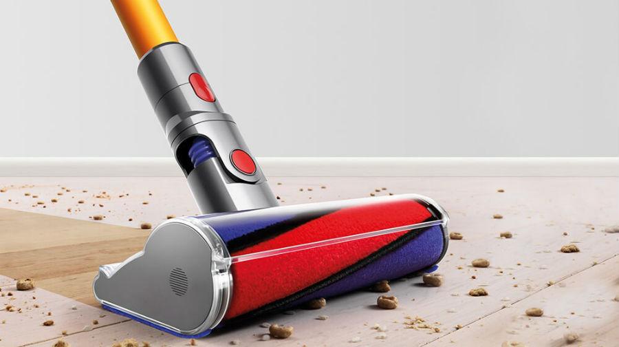 Dyson V8 vacuuming floor