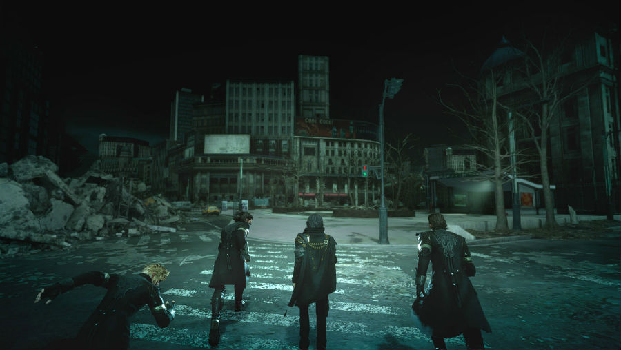 Noctis and friends approaching ruins