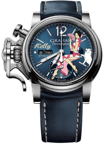 Graham Chronofighter Vintage Nose Art Ltd - Kelly front view
