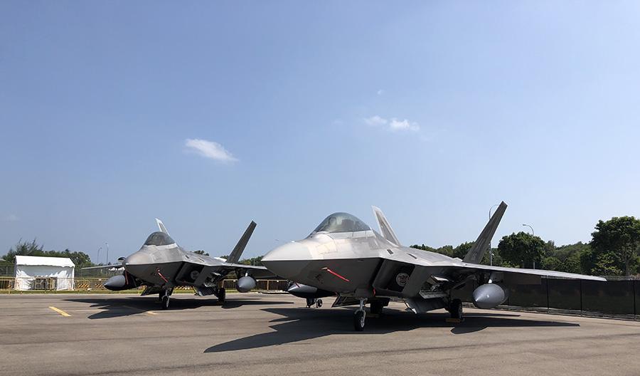 USAF F22 parked