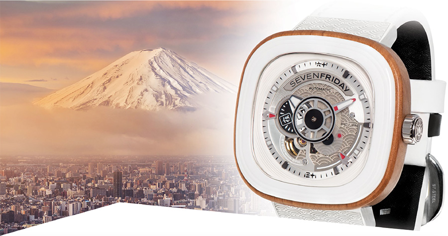 Sevenfriday P1B/03 Japan Inspired Off-Series with Mount Fuji