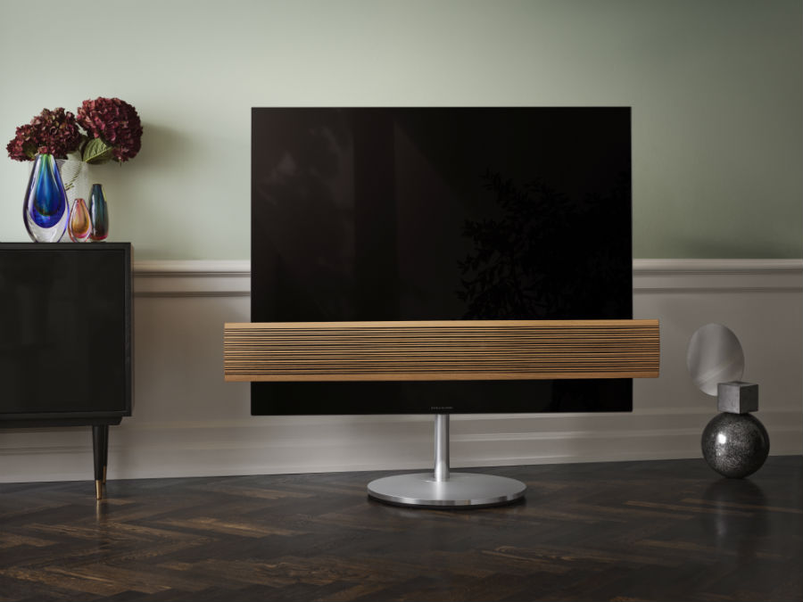 Beovision Eclipse Wood Edition in living room setting