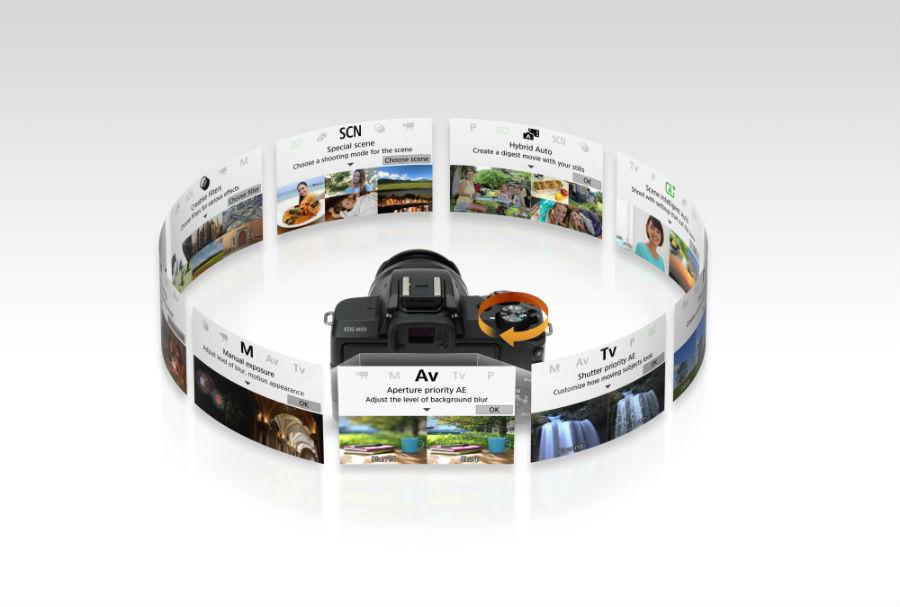 Canon EOS M50 shooting modes
