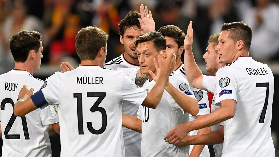 German football team celebrating