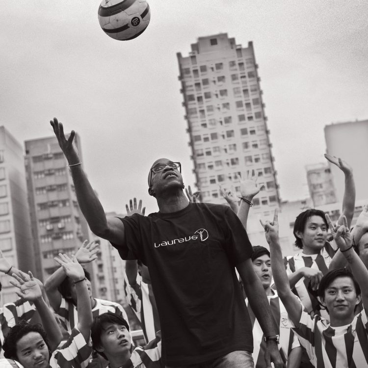 Laureus Sport for Good Foundation image of a man with children