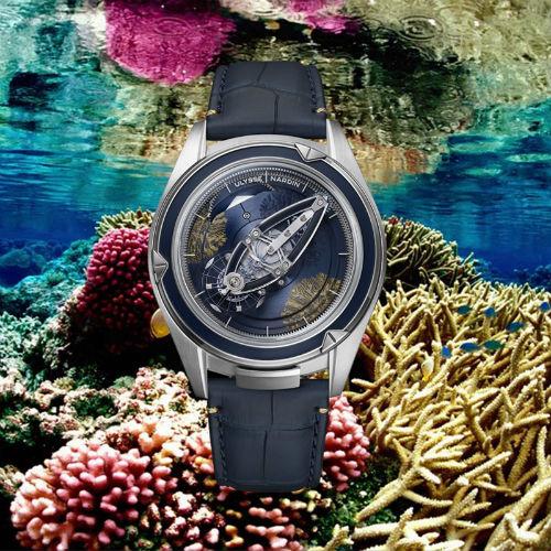 Ulysse Nardin Freak Vision Coral Bay against coral backdrop