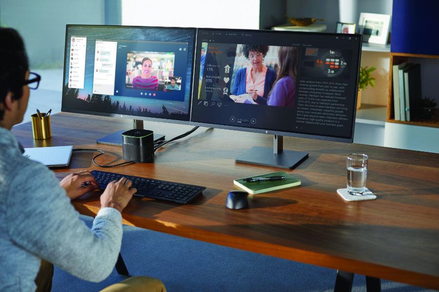 Office Setup with EliteBook, Thunderbolt Dock, EliteDisplay 1