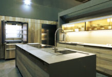 LG Signature Kitchen Suite with sink in foreground