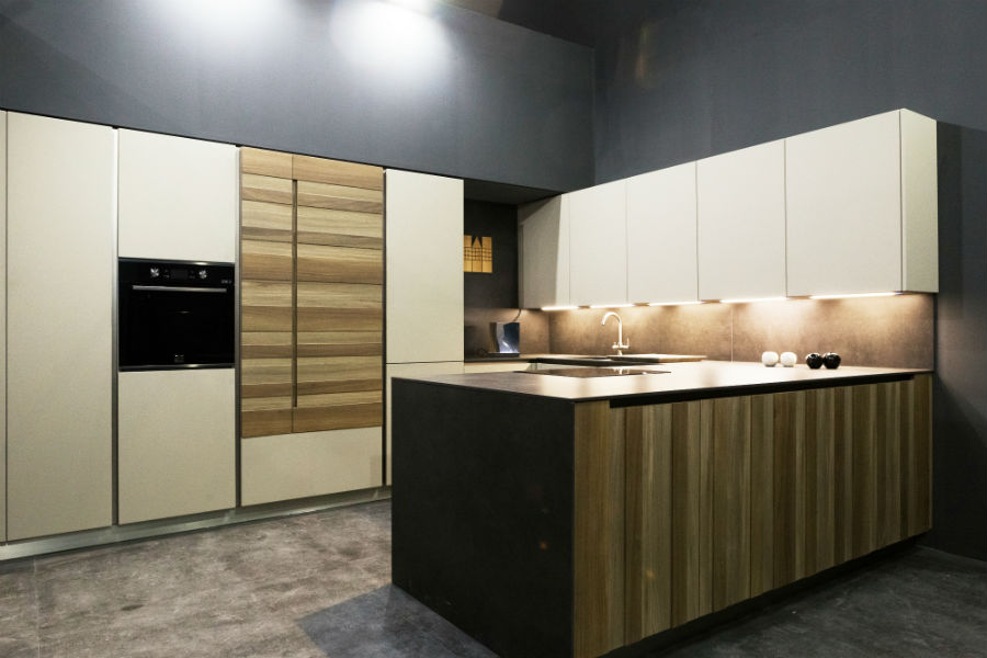 LG Signature Kitchen Suite in black and white kitchen