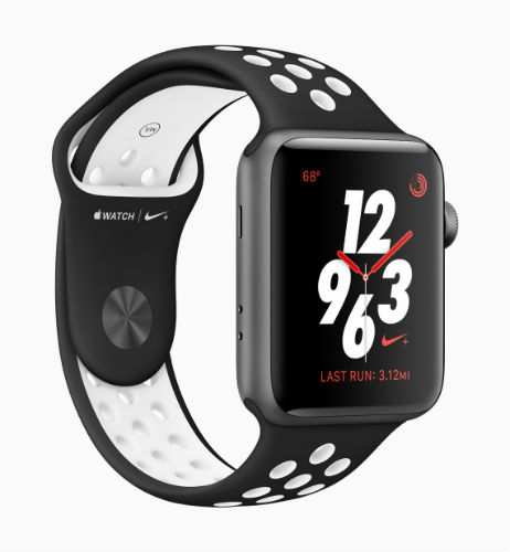 Apple Watch Nike Sport Loop in Black/Pure platinum