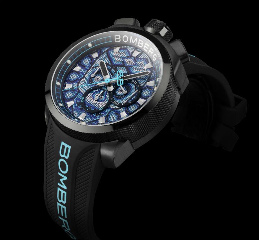 Bomberg BB-68 skull pearl blue