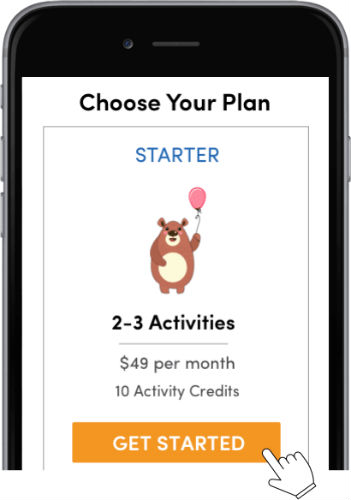 KinderPass activity screen