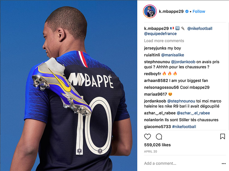 Kylian Mbappe Instagram