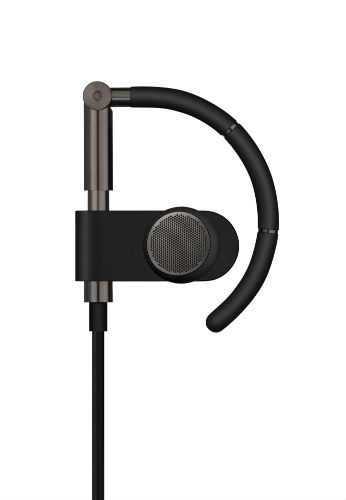 closeup on B&O Play Earset in Graphite Brown