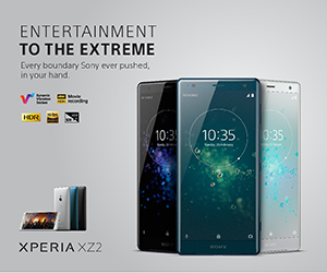 Sony Xperia XZ2 Ad