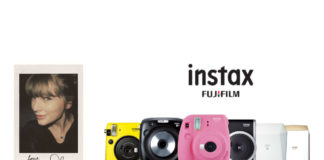 Taylor Swift Fujifilm instax series promotion