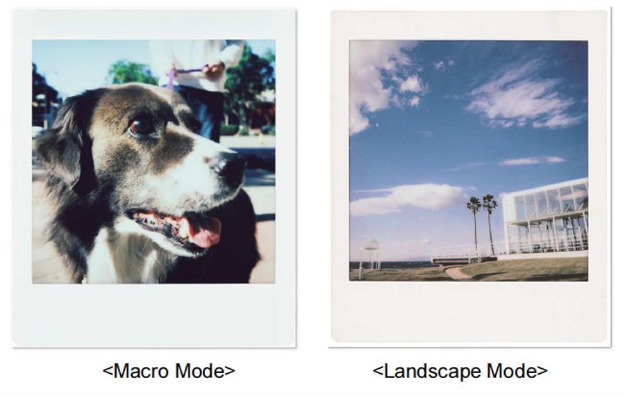 Fujifilm instax SQ6 macro and landscape mode