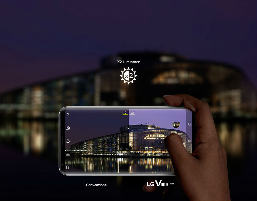 LG V30S+ ThinQ using Bright Mode