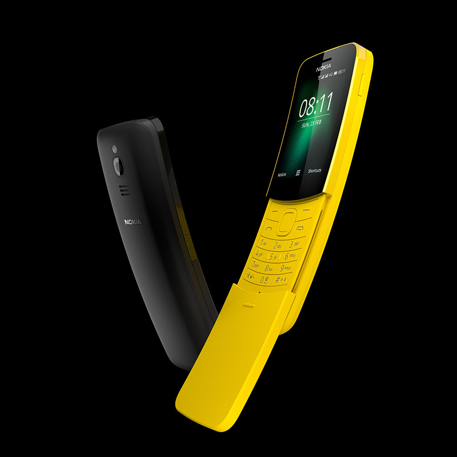 Nokia 8110 in yellow and black