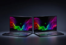 Two Razer Blade gaming laptops