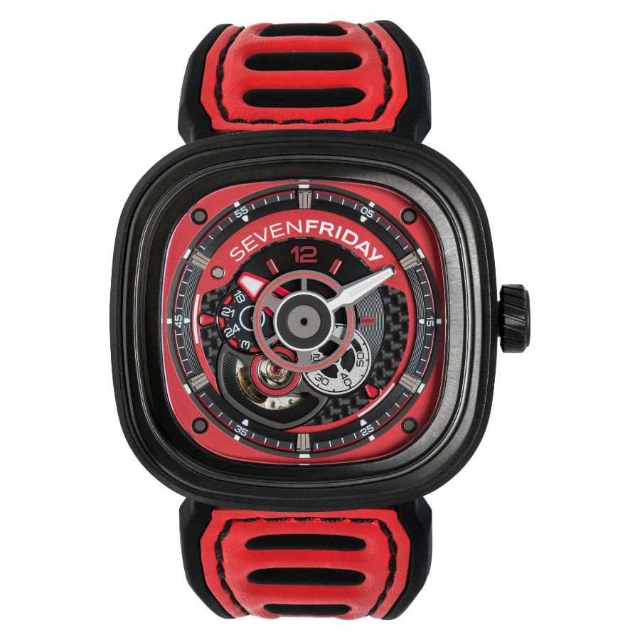 SEVENFRIDAY P3B/06 Red front view zoom
